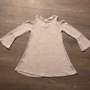 Girls Cold Shoulder Sweater Dress